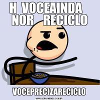 H  VOCEAINDA    NOR    RECICLOVOCEPRECIZARECICLO
