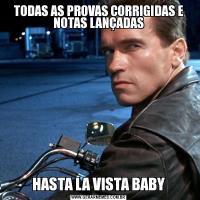TODAS AS PROVAS CORRIGIDAS E NOTAS LANÇADASHASTA LA VISTA BABY