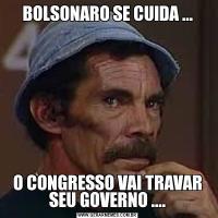 BOLSONARO SE CUIDA ...O CONGRESSO VAI TRAVAR SEU GOVERNO ....