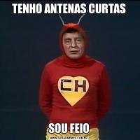 TENHO ANTENAS CURTASSOU FEIO