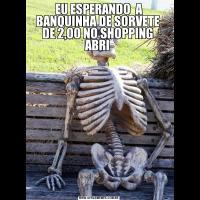 EU ESPERANDO  A BANQUINHA DE SORVETE  DE 2,00 NO SHOPPING  ABRI