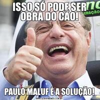 ISSO SÓ PODE SER OBRA DO CÃO!PAULO MALUF É A SOLUÇÃO!