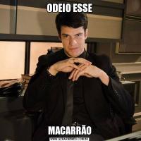 ODEIO ESSEMACARRÃO