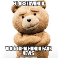 EU OBSERVANDOVOCÊ ESPALHANDO FAKE NEWS