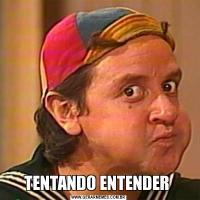 TENTANDO ENTENDER