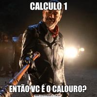 CALCULO 1ENTÃO VC É O CALOURO?