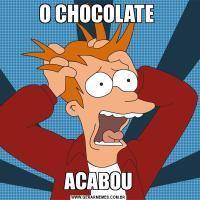 O CHOCOLATE ACABOU