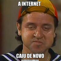 A INTERNET CAIU DE NOVO