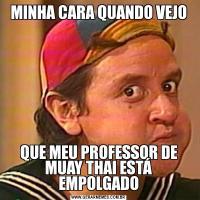 MINHA CARA QUANDO VEJOQUE MEU PROFESSOR DE MUAY THAI ESTÁ EMPOLGADO