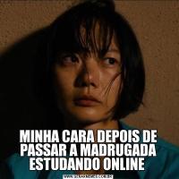 MINHA CARA DEPOIS DE PASSAR A MADRUGADA ESTUDANDO ONLINE