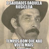 O SAUDADES DAQUELA ROSICLEIATEMPOS BOM QUE NAO VOLTA MAIS.