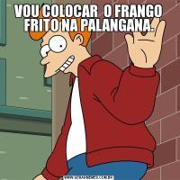 VOU COLOCAR  O FRANGO FRITO NA PALANGANA.