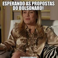 ESPERANDO AS PROPOSTAS DO BOLSONARO!