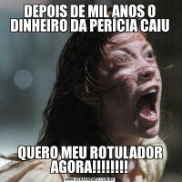 DEPOIS DE MIL ANOS O DINHEIRO DA PERÍCIA CAIUQUERO MEU ROTULADOR AGORA!!!!!!!!