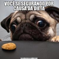 VOCÊ SE SEGURANDO POR CAUSA DA DIETA