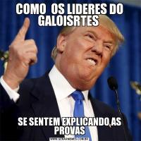 COMO  OS LIDERES DO GALOISRTES SE SENTEM EXPLICANDO AS PROVAS
