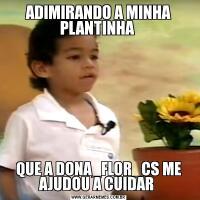 ADIMIRANDO A MINHA PLANTINHA QUE A DONA_FLOR_CS ME AJUDOU A CUIDAR