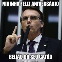 NININHA FELIZ ANIVERSÁRIOBEIJÃO DO SEU GATÃO