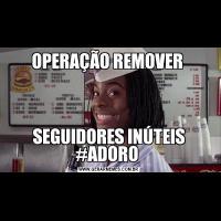 OPERAÇÃO REMOVER SEGUIDORES INÚTEIS #ADORO