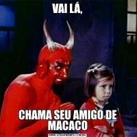 VAI LÁ,CHAMA SEU AMIGO DE MACACO