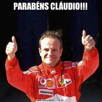 PARABÉNS CLÁUDIO!!!