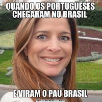 QUANDO OS PORTUGUESES CHEGARAM NO BRASIL E VIRAM O PAU BRASIL