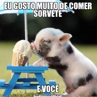 EU GOSTO MUITO DE COMER SORVETEE VOCÊ