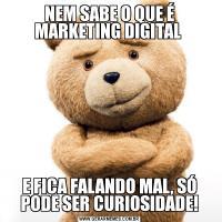 NEM SABE O QUE É MARKETING DIGITAL E FICA FALANDO MAL, SÓ PODE SER CURIOSIDADE!