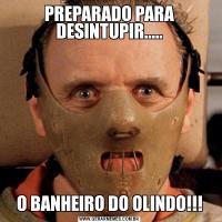 PREPARADO PARA DESINTUPIR.....O BANHEIRO DO OLINDO!!!