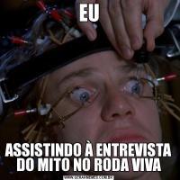 EUASSISTINDO À ENTREVISTA DO MITO NO RODA VIVA