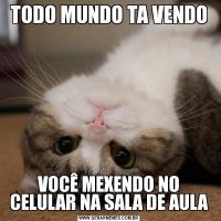 TODO MUNDO TA VENDOVOCÊ MEXENDO NO CELULAR NA SALA DE AULA