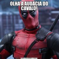 OLHA A AUDÁCIA DO CAVALO!
