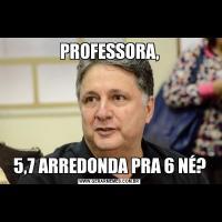 PROFESSORA,5,7 ARREDONDA PRA 6 NÉ?