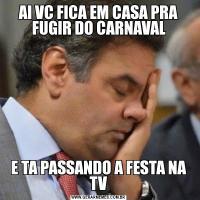 AI VC FICA EM CASA PRA FUGIR DO CARNAVALE TA PASSANDO A FESTA NA TV