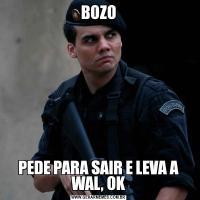 BOZOPEDE PARA SAIR E LEVA A WAL, OK