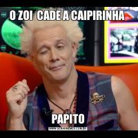 O ZOI  CADE A CAIPIRINHA PAPITO
