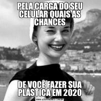 PELA CARGA DO SEU CELULAR QUAIS AS CHANCESDE VOCÊ FAZER SUA PLÁSTICA EM 2020