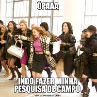 ÔPAAAINDO FAZER MINHA PESQUISA DE CAMPO