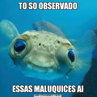 TO SO OBSERVADOESSAS MALUQUICES AI
