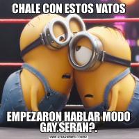 CHALE CON ESTOS VATOSEMPEZARON HABLAR MODO GAY.SERAN?.