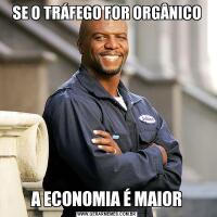 SE O TRÁFEGO FOR ORGÂNICOA ECONOMIA É MAIOR