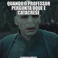 QUANDO O PROFESSOR PERGUNTA OQUE É CATACRESE