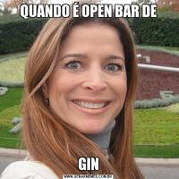 QUANDO É OPEN BAR DEGIN