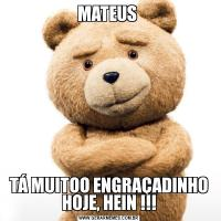 MATEUS TÁ MUITOO ENGRAÇADINHO HOJE, HEIN !!!