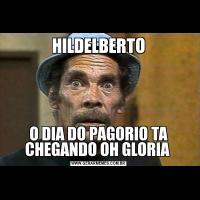 HILDELBERTOO DIA DO PAGORIO TA CHEGANDO OH GLORIA