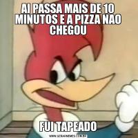 AI PASSA MAIS DE 10 MINUTOS E A PIZZA NAO CHEGOUFUI TAPEADO