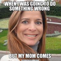 WHEN I WAS GOING TO DO SOMETHING WRONG BUT MY MOM COMES
