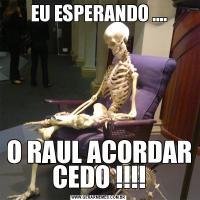EU ESPERANDO ....O RAUL ACORDAR CEDO !!!!