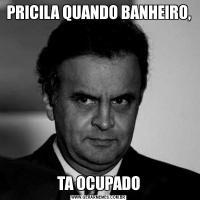 PRICILA QUANDO BANHEIRO,TA OCUPADO