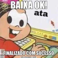 BAIXA OK!FINALIZADO COM SUCESSO